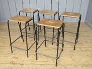 All the tubular steel stacking stools are in very similar condition