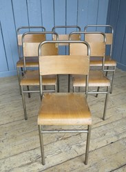 Remploy Tubular Steel Stacking Chairs