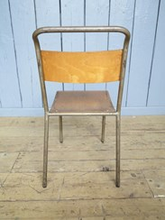 Showing the back of the Remploy Tubular Steel Stacking Chairs