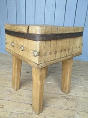 UKAA Buy and Sell Original Antique Butchers Kitchen Chopping Block
