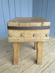 Image 5 - Antique Butchers Kitchen Chopping Block