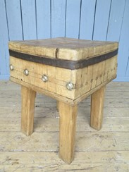 Image 6 - Antique Butchers Kitchen Chopping Block
