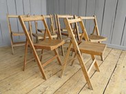 Antique Folding Slatted Chairs