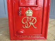 Hand Painted Red and Gold Original George 6th Wall Mounted Post Box