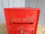 Top view of the original George 6th Wall Mounted Post Box