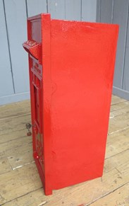 Side view of the Original George 6th Wall Mounted Post Box