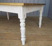Reclaimed Plank Top Farmhouse Table - Ready for Dispatch