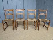 Antique Rush Seated Kitchen Chairs - St Thomas A