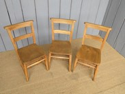 Showing the seats of the antique church chairs from the Royal School of Bath