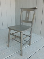 This chair has been painted Farrow and Ball Downpipe and then distressed