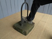 Wrought Iron Boot Scraper on Stone Base