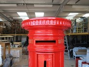 Top view of of the Edward 7th Royal Mail Cast Iron Pillar Box