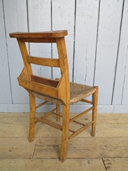 Image 2 - Rush Seated Antique Church Chairs With Book Holders