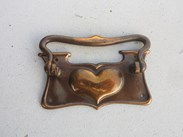 Image 3 - Set of 8 Antique Copper Art Nouveau Drawer Handles