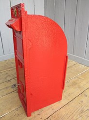 Showing the side of Very Rare VR Wall Mounted Post Box - arched back