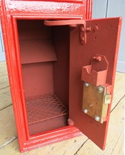 Inside of the Very Rare VR Wall Mounted Post Box - arched back
