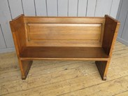 Antique Church Solid Oak Pew