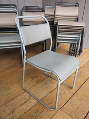 Image 2 - Set of 37 Tubular Vinyl Covered Stacking Chairs