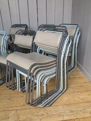 Image 3 - Set of 37 Tubular Vinyl Covered Stacking Chairs