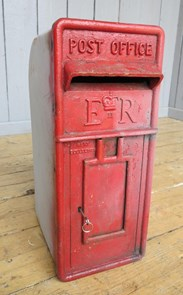 Original Royal Mail Post Box With Cage - For Restoration