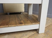 Image 5 - Antique Butchers Block With 2 Reclaimed Floorboard Shelves