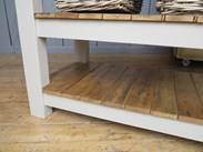 Reclaimed floorboards used for the shelves