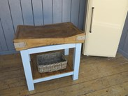 Butchers Chopping Block On Base with Shelf