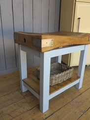 Image 2 - Butchers Chopping Block On Base with Shelf