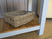 Wicker basket is also included
