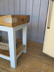 Antique butchers blocks - sold here at UKAA in Cannock Wood