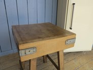 Antique Butchers Block on Original Base