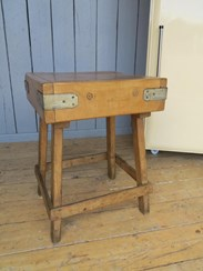 Image 3 - Antique Butchers Block on Original Base