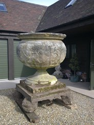 Extremely Large Reconstituted Stone Garden Pot