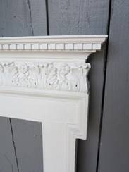 Image 2 - Original Georgian Wooden Painted Fire Surround