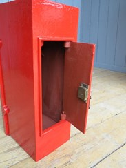 rear view of the antique GR post box