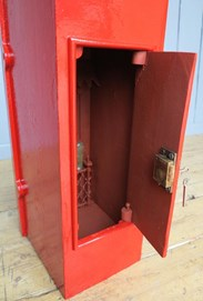 Showing the original chubb locks on the antique post box at UKAA