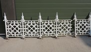 Large Run of Reclaimed Cast Iron Wall Railings