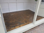Showing the oiled floorboards