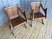 Image 2 - Pair of Antique Gothic Glastonbury Chairs