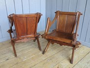 Image 3 - Pair of Antique Gothic Glastonbury Chairs
