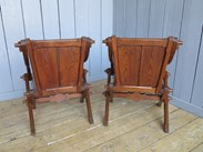 Image 4 - Pair of Antique Gothic Glastonbury Chairs