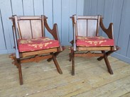 Image 6 - Pair of Antique Gothic Glastonbury Chairs