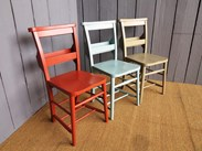 We can paint your church chairs in a solid paint colour