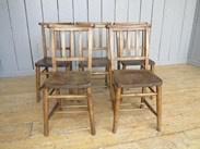 Set of 5 Antique Church Chairs