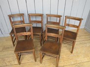 Image 3 - Antique Church Chairs