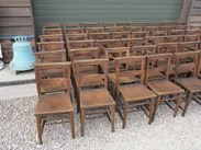 We buy and sell antique church chairs