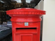Royal Mail ER Cast Iron Floor Mounted Pillar Box