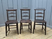 Antique Victorian Church Chairs