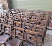 Image 4 - Antique Victorian Church Chairs