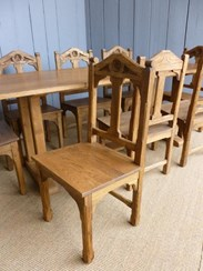 We have lots of these matching chairs - 10 will fit around this table - see seperate advert for the chairs